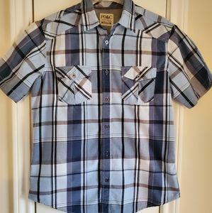 Men's Paper Denim & Cloth plaid button down shirt